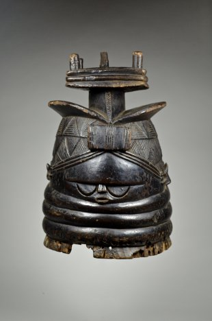 Sowei mask 'Bundu' of the Sande Society